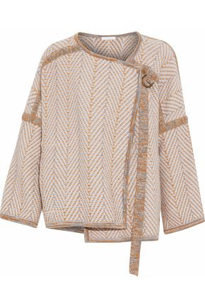 CHLOÉ Jacquard-knit wool and cashmere-blend jacket