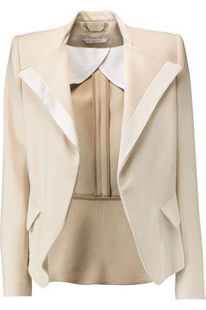CHLOÉ Satin-trimmed crepe blazer