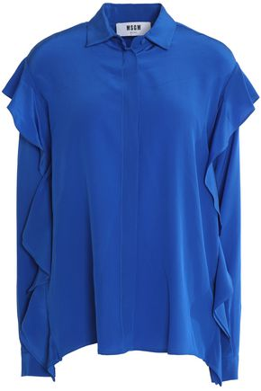 MSGM Ruffled silk crepe de chine blouse