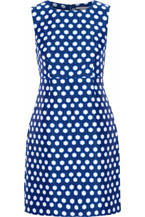 DIANE VON FURSTENBERG Printed faille mini dress