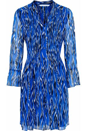DIANE VON FURSTENBERG Printed silk-chiffon dress