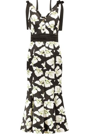 CINQ À SEPT Blakely floral-print silk midi dress