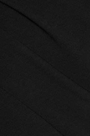 CINQ À SEPT Marta off-the-shoulder fluted crepe midi dress
