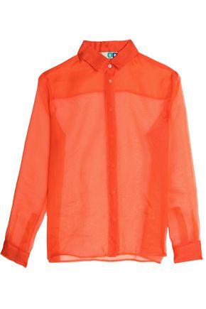 MSGM Silk-organza shirt