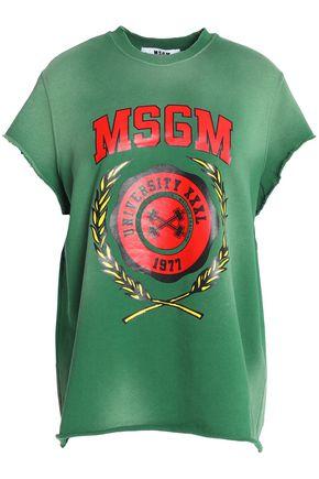MSGM Coated cotton-jersey sweatshirt