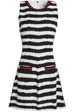 MSGM Flared striped tweed mini dress