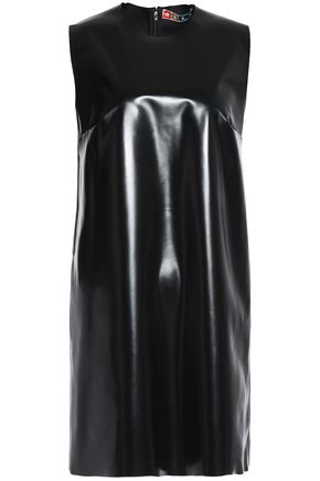 MSGM Faux patent-leather mini dress