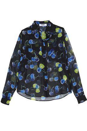MSGM Printed georgette shirt