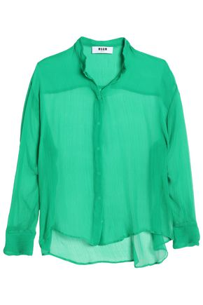 MSGM Silk-crepe top