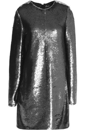 MSGM Sequined stretch-knit mini dress