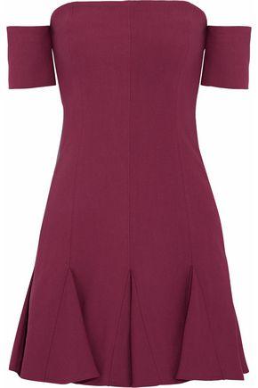 CINQ À SEPT Pleated cady mini dress