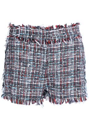 MSGM Tweed and denim shorts