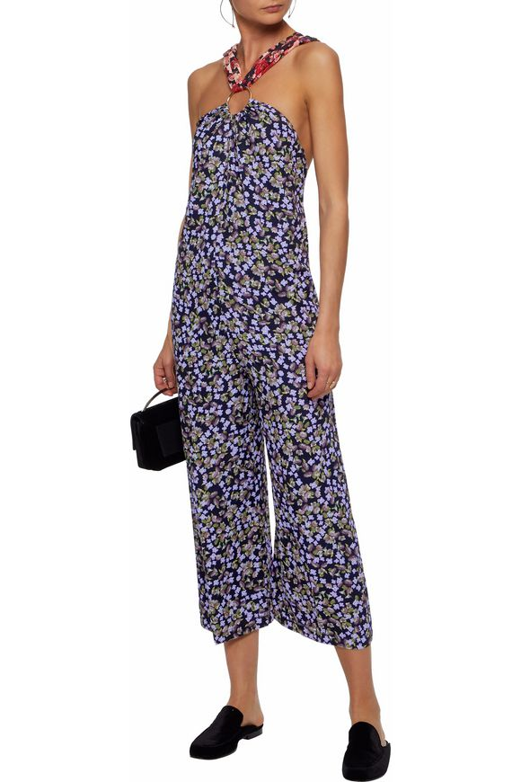 Open-back floral-print silk crepe de chine jumpsuit | MOTHER OF PEARL | Sale  up to 70% off | THE OUTNET
