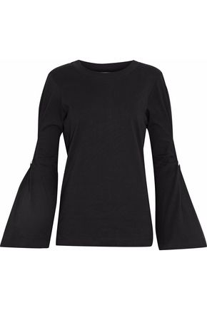 MOTHER OF PEARL Embellished cotton-jersey top