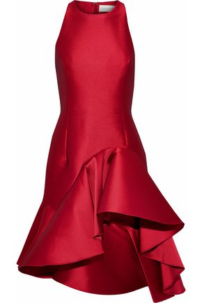 SACHIN & BABI Ruffled duchesse-satin dress