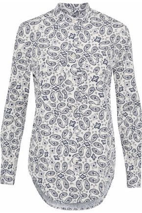 BELSTAFF Printed cotton-poplin shirt