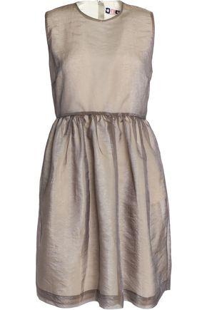 MSGM Pleated organza mini dress