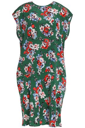 MSGM Floral-print silk crepe de chine dress