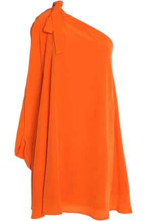 MSGM One-shoulder draped silk mini dress