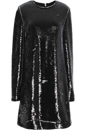 MSGM Sequined stretch-knit mini dress