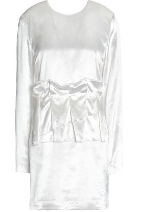 MSGM Layered sateen mini dress