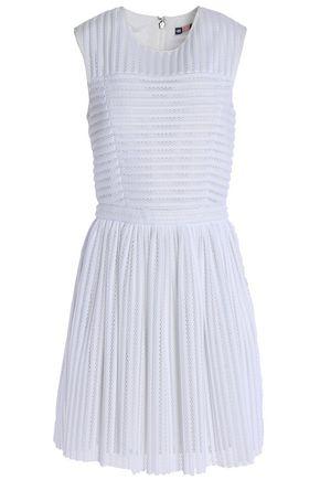 MSGM Paneled mesh dress