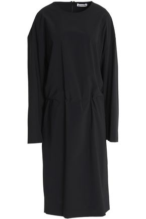 JIL SANDER Gathered crepe dress