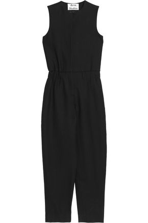 ACNE STUDIOS Cropped wool-twill jumpsuit
