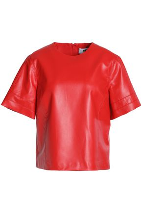 MSGM Faux leather top