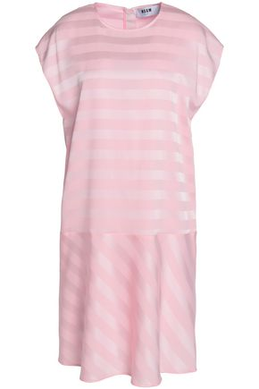 MSGM Striped jacquard dress