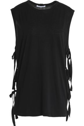 HELMUT LANG Strap-detailed cotton and cashmere-blend tank