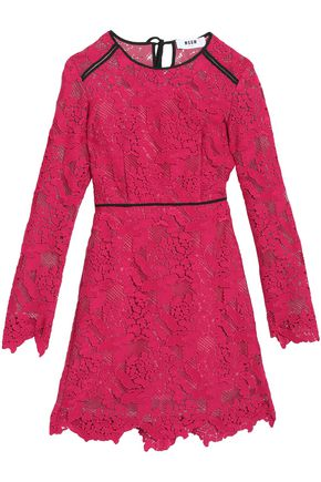 MSGM Scalloped corded lace mini dress