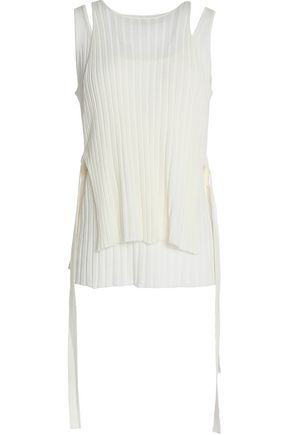 HELMUT LANG Cutout ribbed wool top