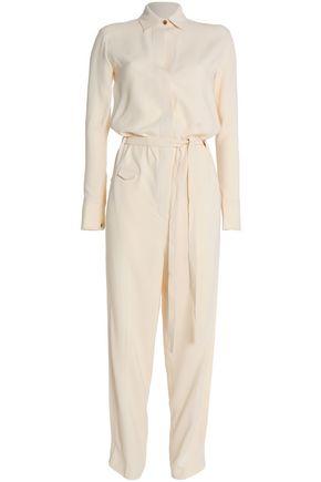 HELMUT LANG Belted crepe de chine jumpsuit