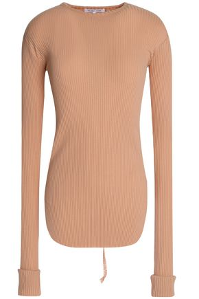 HELMUT LANG Ribbed stretch-knit top