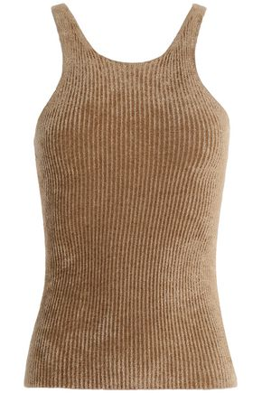 HELMUT LANG Ribbed-knit chenille tank