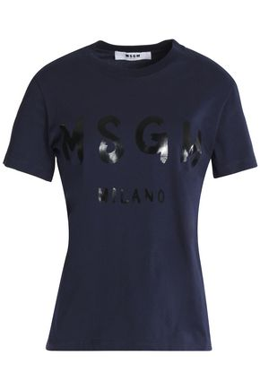 MSGM Printed cotton-jersey T-shirt