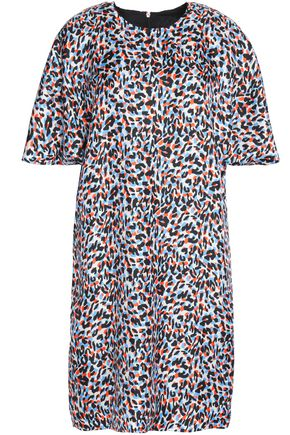 MSGM Printed silk-jersey mini dress