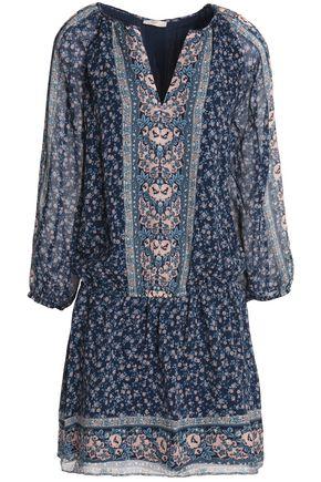 JOIE Floral-print silk-georgette mini dress