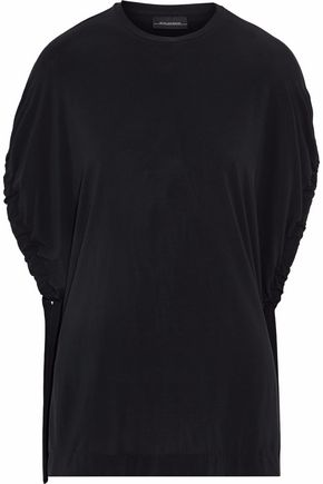 BY MALENE BIRGER Gathered draped jersey top