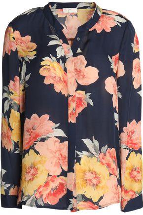 JOIE Floral-print silk-georgette blouse