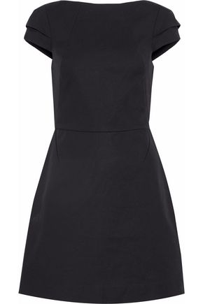 HALSTON HERITAGE Cotton-blend ponte mini dress
