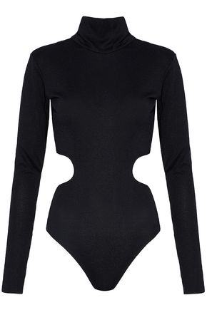 ALIX Cutout stretch-jersey turtleneck bodysuit