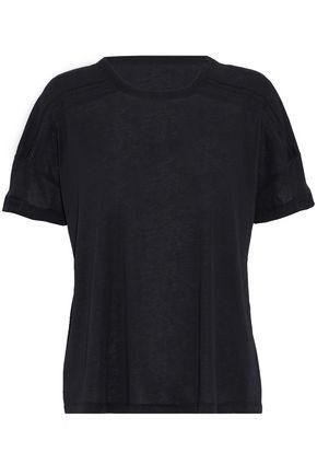 BELSTAFF Lace-trimmed stretch-cotton T-shirt