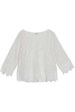 JOIE Embroidered silk top