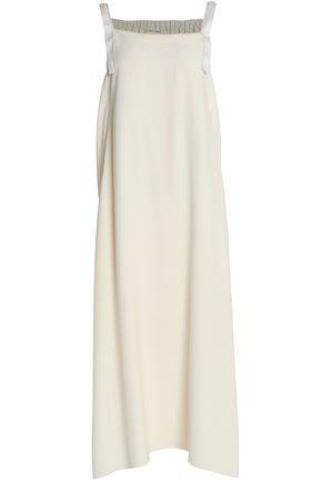 HELMUT LANG Tie-back twill midi dress
