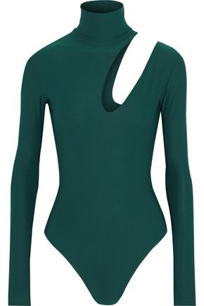 ALIX Cutout stretch-jersey turtleneck bodysuit