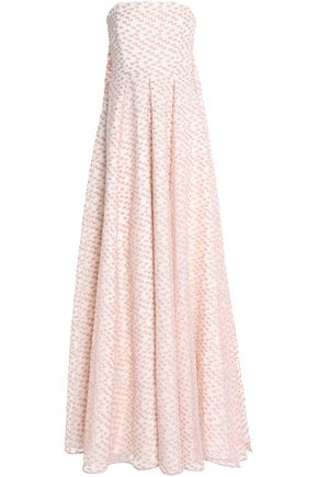 SAFIYAA Pleated fil coupé chiffon gown