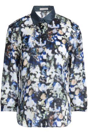 NINA RICCI Printed silk crepe de chine shirt