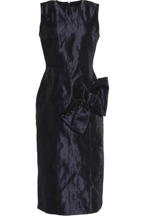 ROKSANDA Bow-detailed taffeta midi dress